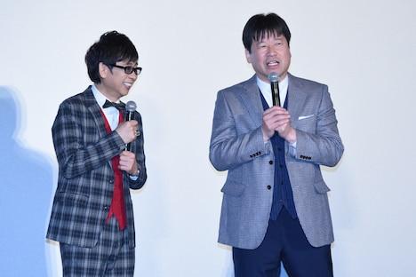 左から山寺宏一、佐藤二朗。