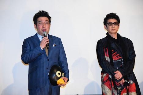 左から廣田正興、永瀬正敏。