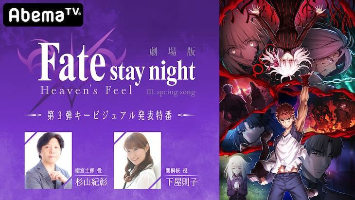 「劇場版『Fate/stay night [Heaven's Feel]』III.spring song 第3弾キービジュアル発表特番」