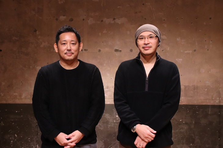 左から入江悠、映画評論家の森直人。