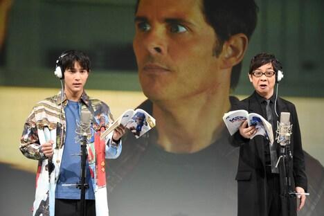 「ソニック・ザ・ムービー」公開アフレコイベントの様子。