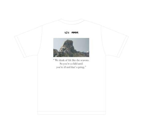 E賞のA24×POPEYE限定Tシャツ(裏)。