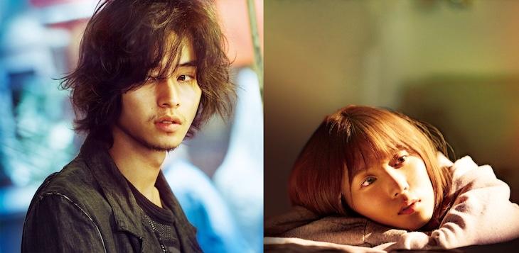 左から山崎賢人演じる永田、松岡茉優演じる沙希。