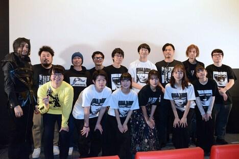 「COMPLY+-ANCE コンプライアンス」初日舞台挨拶の登壇者たち。