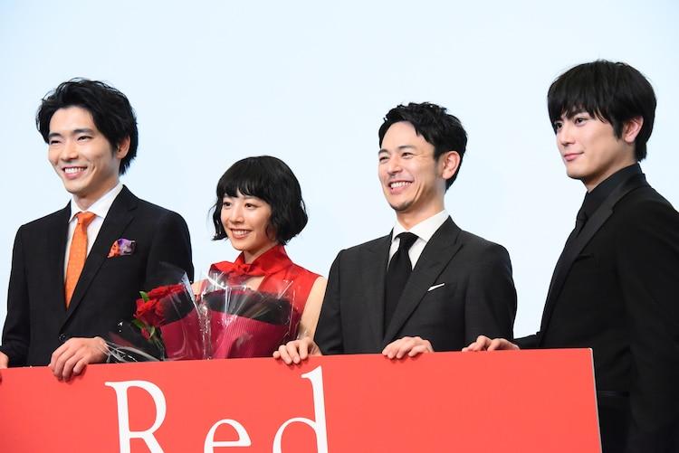 「Red」公開記念舞台挨拶の様子。