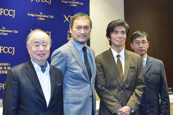 「Fukushima 50」記者会見の様子。