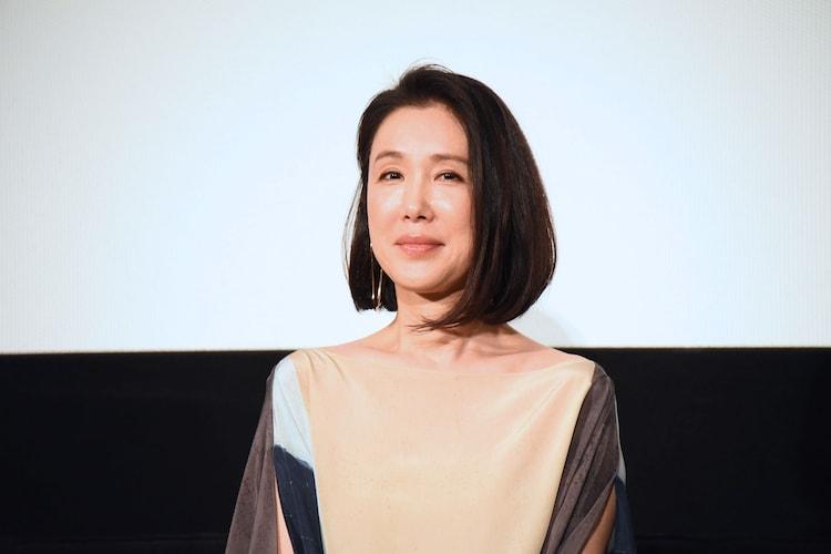 2020年2月、「影裏」の公開記念舞台挨拶に出席した筒井真理子。