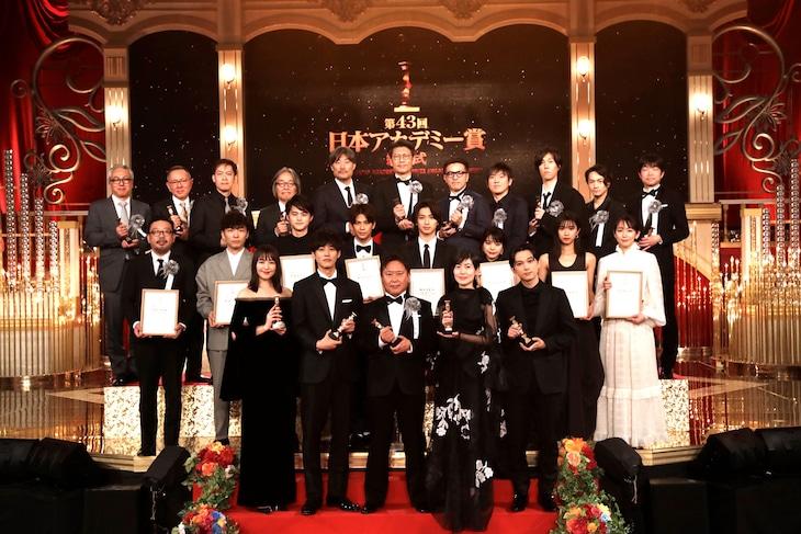 第43回日本アカデミー賞授賞式の様子。