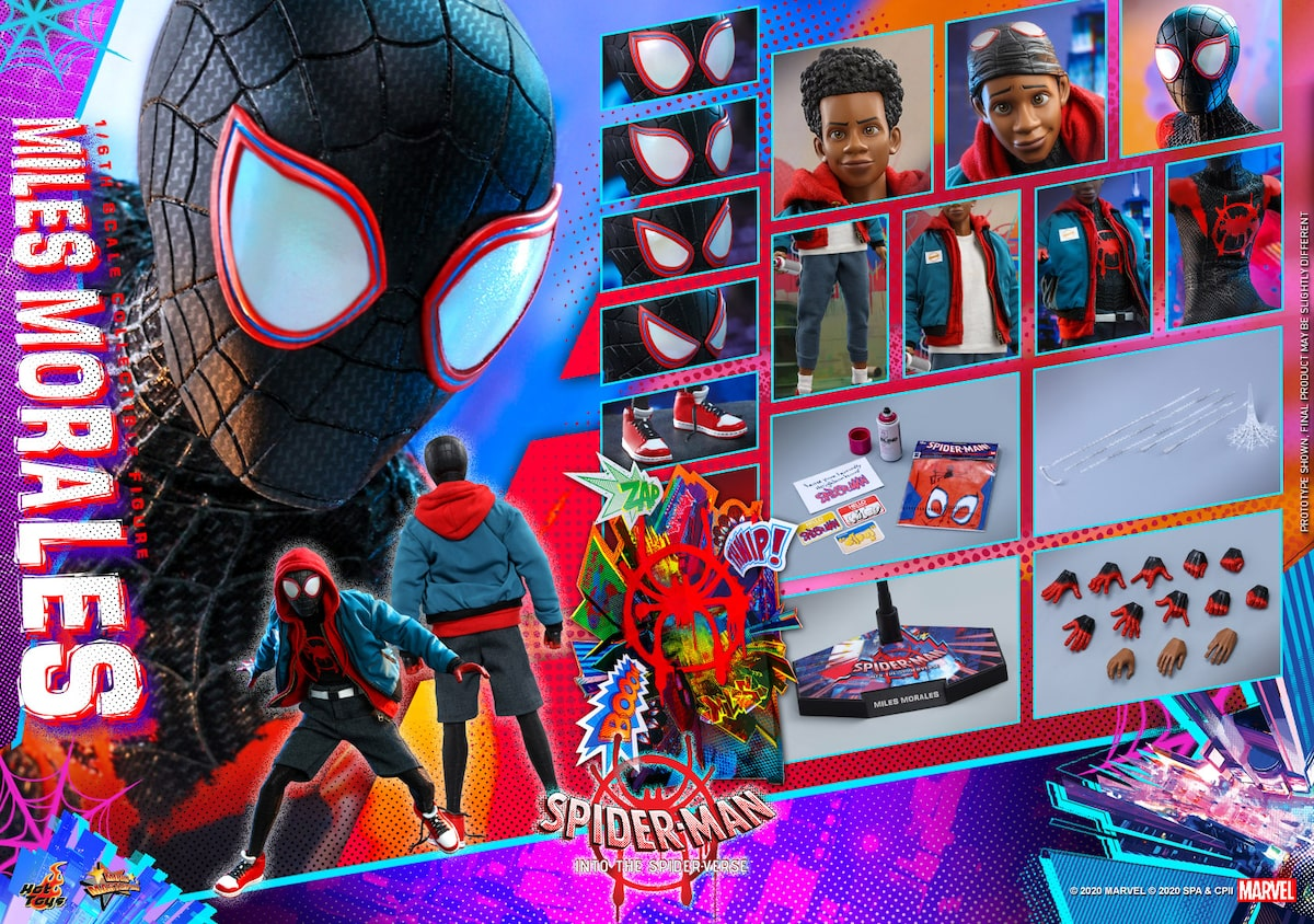 スパイダーバース マイルスの1 6フィギュア登場 着脱式の洋服で日常