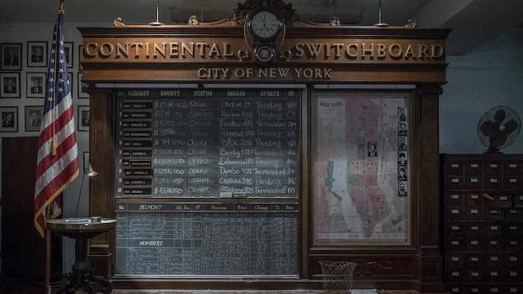映画公式アカウントが配布した「ジョン・ウィック:パラベラム」の背景素材。