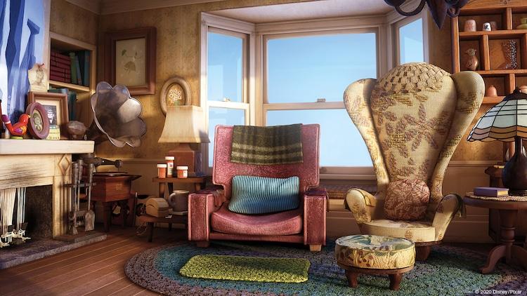ピクサーが配布した「カールじいさんの空飛ぶ家」の背景素材。