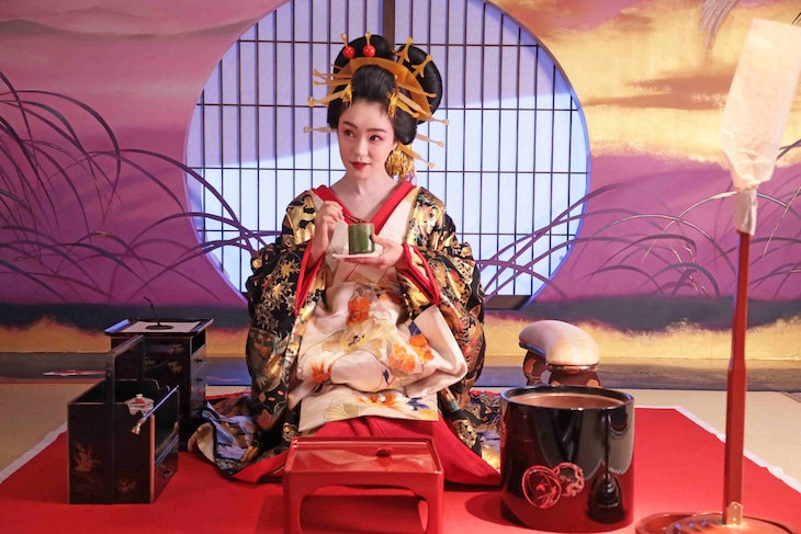 「みをつくし料理帖」より、奈緒演じるあさひ太夫。