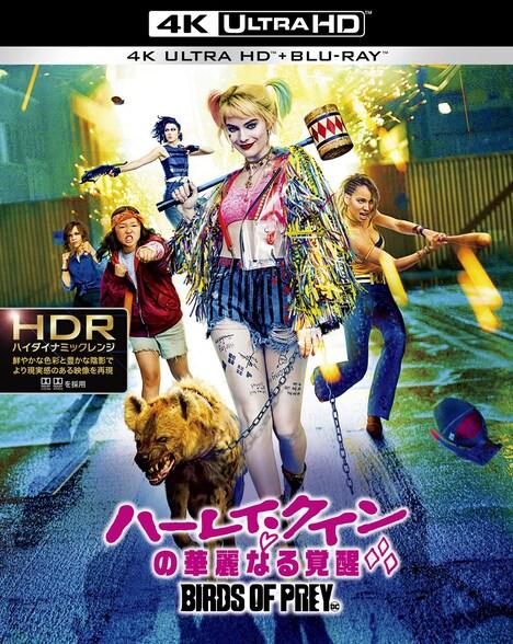 「ハーレイ・クインの華麗なる覚醒 BIRDS OF PREY」4K Ultra HD Blu-rayのジャケット。