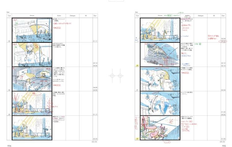 「天気の子 新海誠絵コンテ集6」より。
