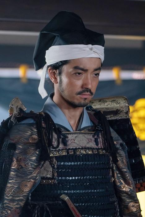 金子ノブアキ演じる佐久間右衛門尉信盛。(写真提供:NHK)