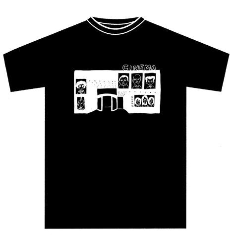 新宿武蔵野館で販売されるコラボTシャツのデザイン。