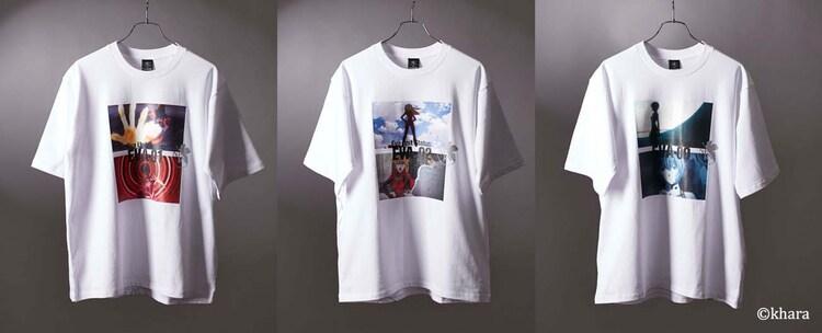 tk.TAKEO KIKUCHI「プリントシャツ」(左から「綾波は綾波しかいない」「あんたバカぁ?」「笑えばいいと思うよ」 / 各税込6600円)