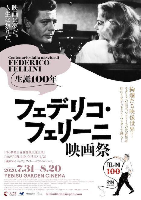 「フェデリコ・フェリーニ映画祭」ポスタービジュアル