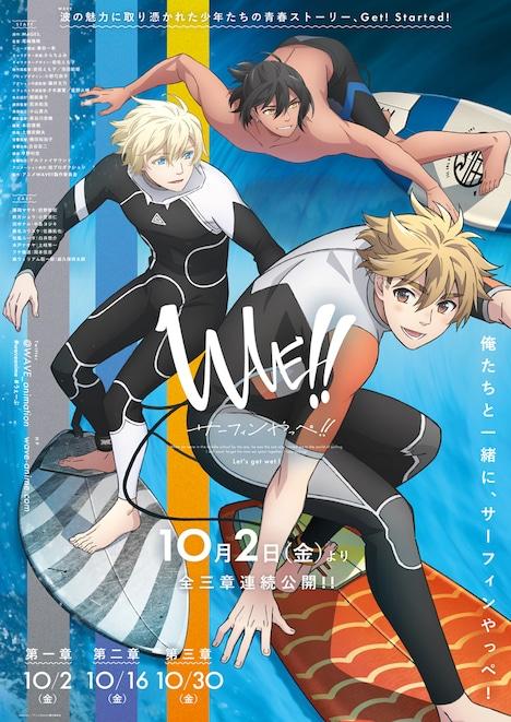 「WAVE!!~サーフィンやっぺ!!~」第1章キービジュアル