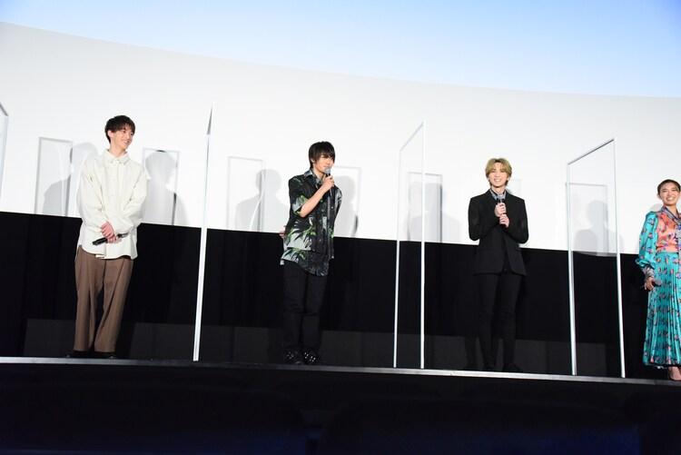 左から伊藤あさひ、神尾楓珠、吉野北人、山口乃々華。