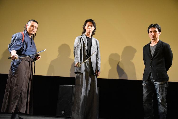 左から坂口拓、山崎賢人、下村勇二。