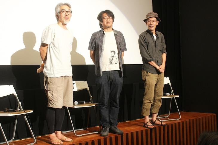 「れいこいるか」トークショーの様子。左からいまおかしんじ、城定秀夫、守屋文雄。