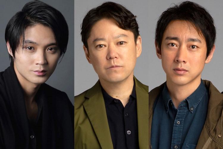 左から磯村勇斗、阿部サダヲ、小泉孝太郎。