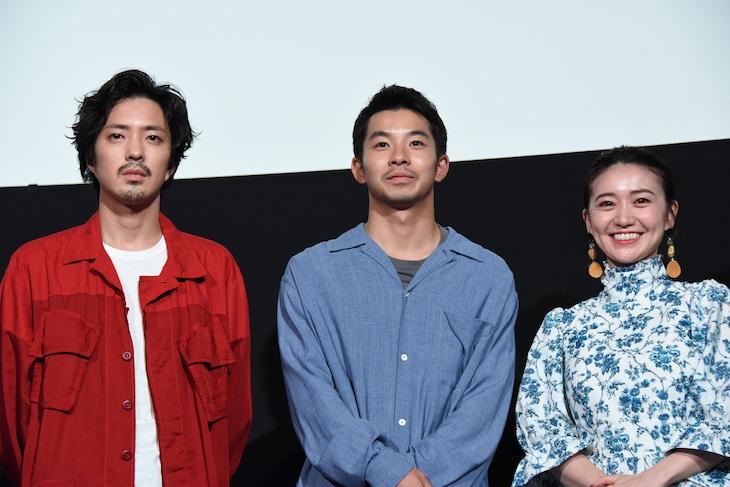 「生きちゃった」トークイベントの様子。左から若葉竜也、仲野太賀、大島優子。