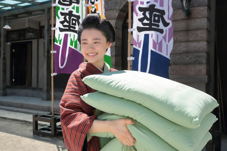 杉咲花演じる竹井千代。