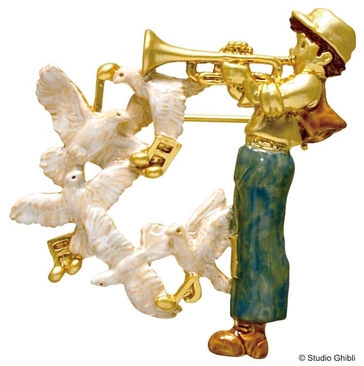 「天空の城ラピュタ ブローチ パズーと幸せの白い鳩」(税込4730円)
