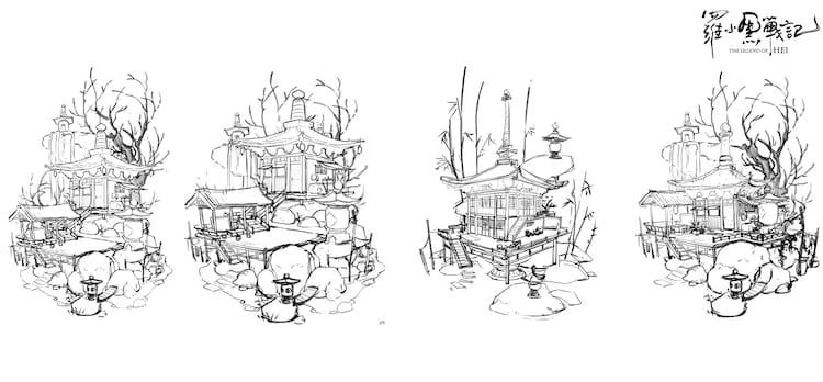 ムゲン小屋の設定画。
