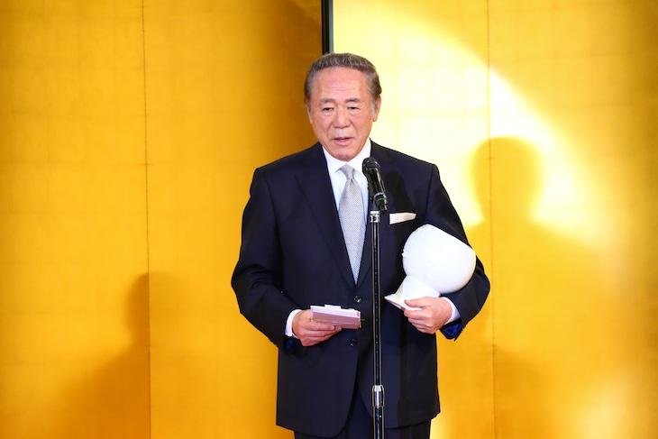 三船敏郎賞を受賞した小林稔侍。