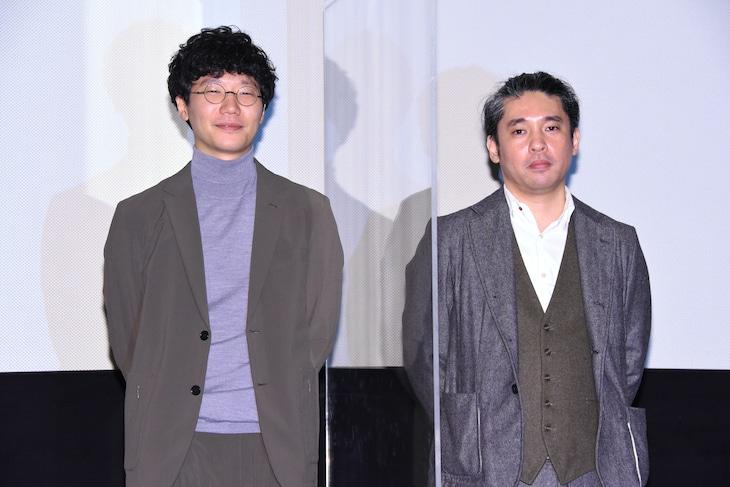 第21回東京フィルメックス「きまじめ楽隊のぼんやり戦争」上映時の様子。左から前原滉、池田暁。