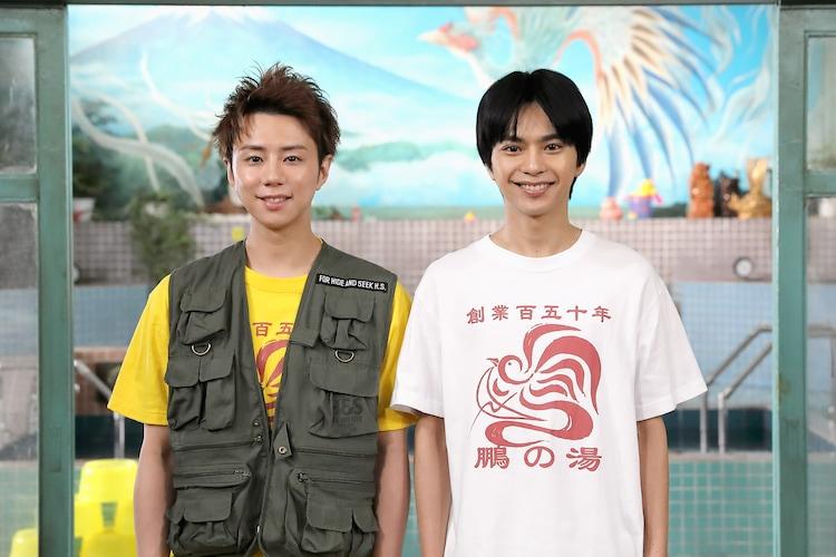 左から北山宏光(Kis-My-Ft2)、佐藤勝利(Sexy Zone)。(c) NTV・J Storm