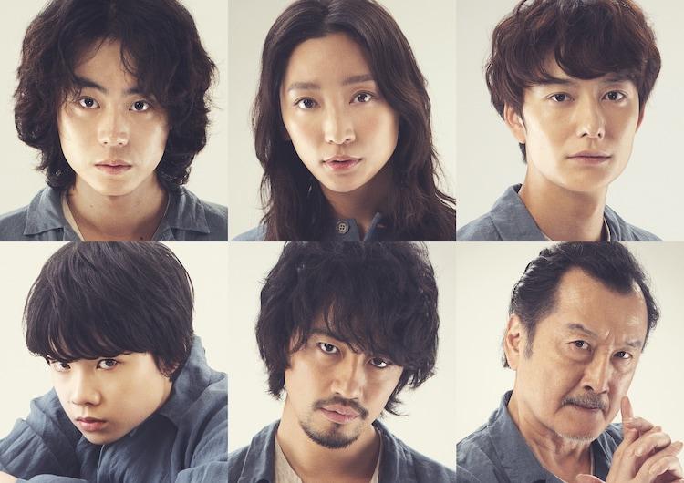 左上から時計回りに菅田将暉、杏、岡田将生、吉田鋼太郎、斎藤工、田代輝。