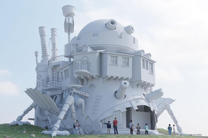 「ハウルの動く城」をイメージした施設の予想図(表面のイメージは完成時と異なる)。(c)Studio Ghibli