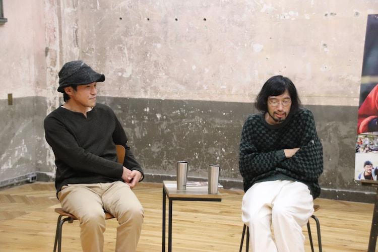 左から冨永昌敬、今泉力哉。