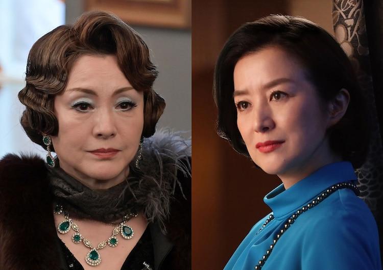 左から松坂慶子演じる本堂夫人、鈴木京香演じる上杉穂波。