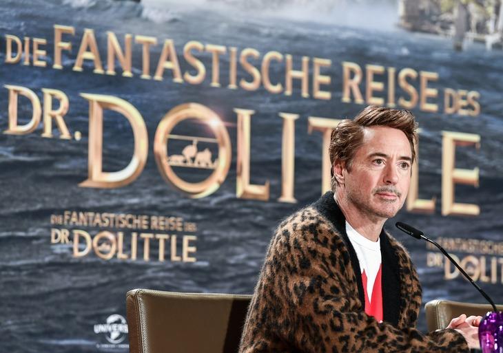 2020年1月「ドクター・ドリトル」のイベントに出席したロバート・ダウニー・Jr.。(写真提供:Jens Kalaene / dpa / picture-alliance / Newscom / ゼータ イメージ)
