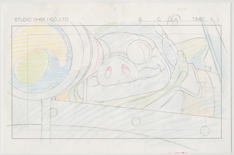 「紅の豚」(1992)原画 (c)1992 Studio Ghibli・NN