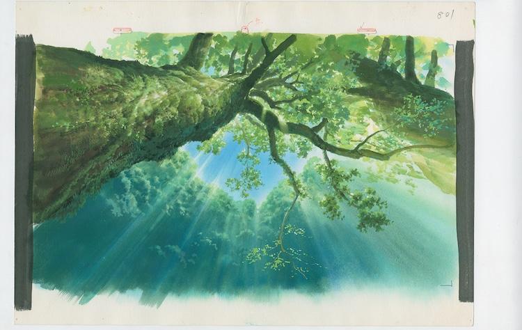 「もののけ姫」(1997)背景画 (c)1997 Studio Ghibli・ND