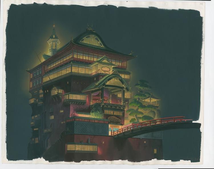 「千と千尋の神隠し」(2001)背景画 (c)2001 Studio Ghibli・NDDTM