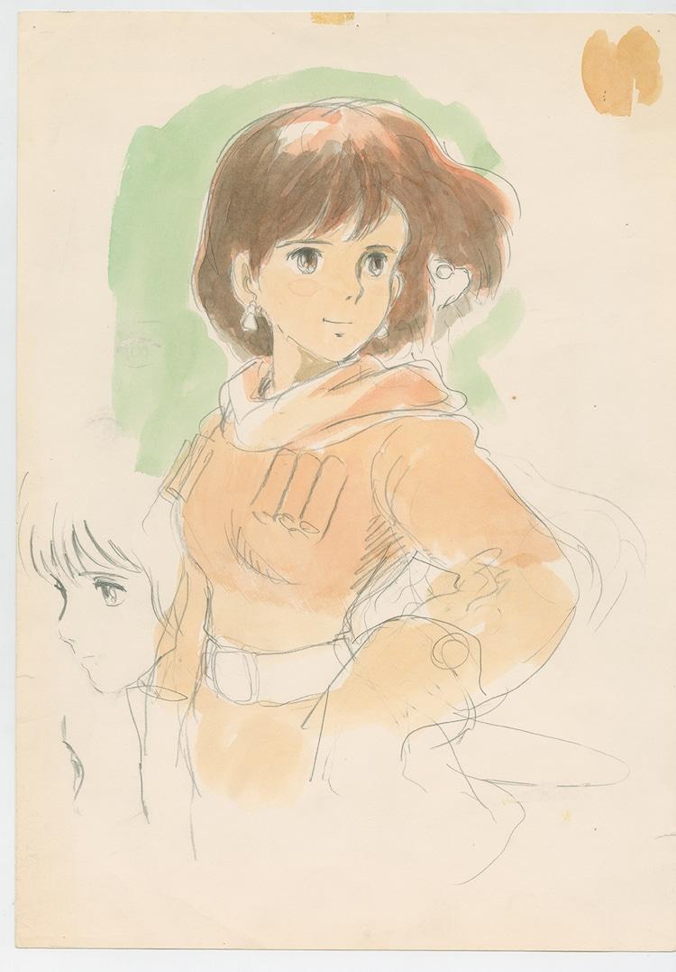 「風の谷のナウシカ」(1984)イメージボード 宮崎駿 (c)1984 Studio Ghibli・H