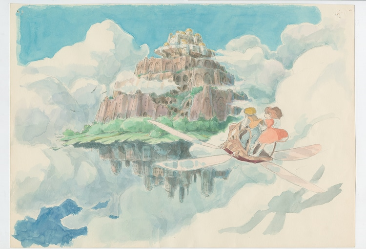 「天空の城ラピュタ」(1986)イメージボード 宮崎駿 (c)1986 Studio Ghibli