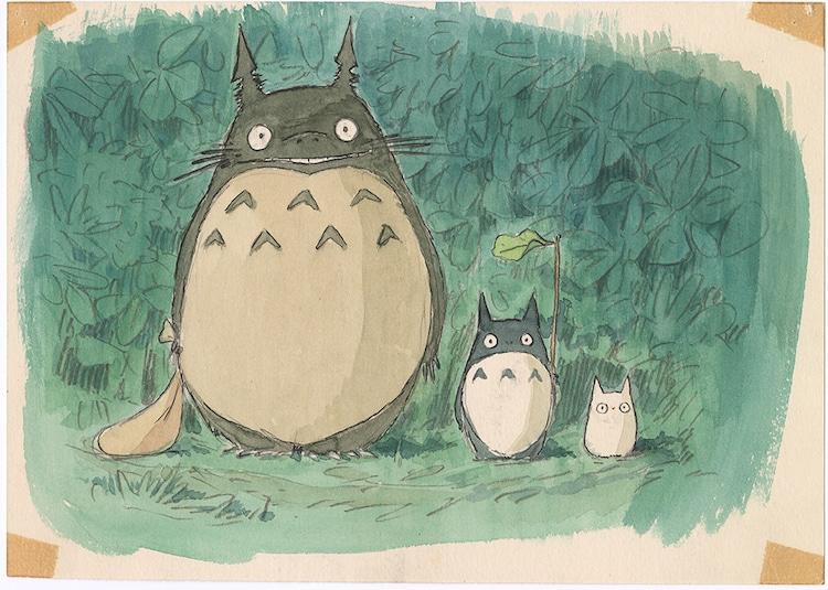 「となりのトトロ」(1988)イメージボード 宮崎駿 (c)1988 Studio Ghibli