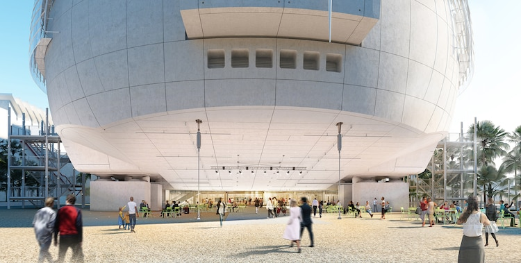 アカデミー映画博物館の外観。(c)Renzo Piano Building Workshop / (c)Academy Museum Foundation