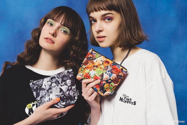 X-girl/Disney/THE MUPPETS/MINI POUCH(手前2つ / 税込3850円)