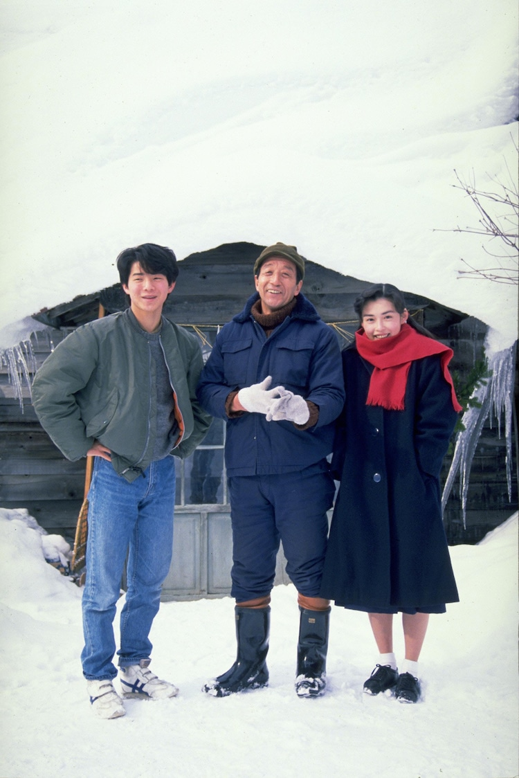 「北の国から '89帰郷」より。左から吉岡秀隆演じる純、田中邦衛演じる黒板五郎、中嶋朋子演じる蛍。