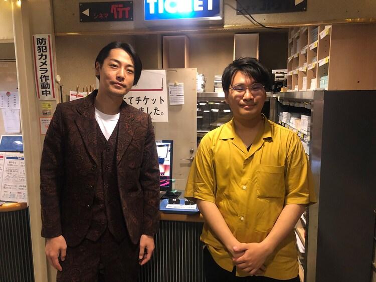左から福士誠治、阪元裕吾。