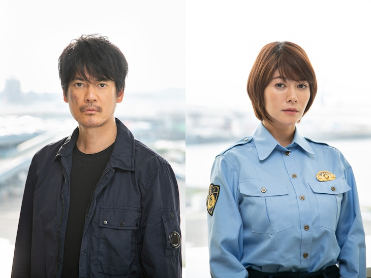 「ボイスII 110緊急指令室」より、唐沢寿明演じる樋口彰吾(左)と真木よう子演じる橘ひかり(右)。